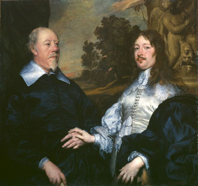 John Taylor and Sir John Denham, c. 1643, William Dobson
