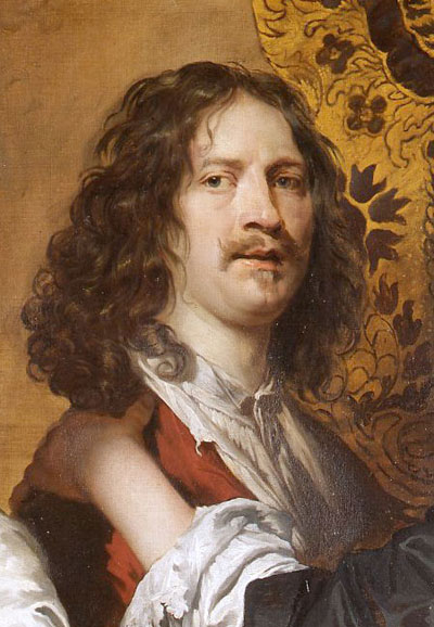 Detail from Self-Portrait with Nicholas Lanier and Sir Charles Cotterell, c. 1645-1646, William Dobson